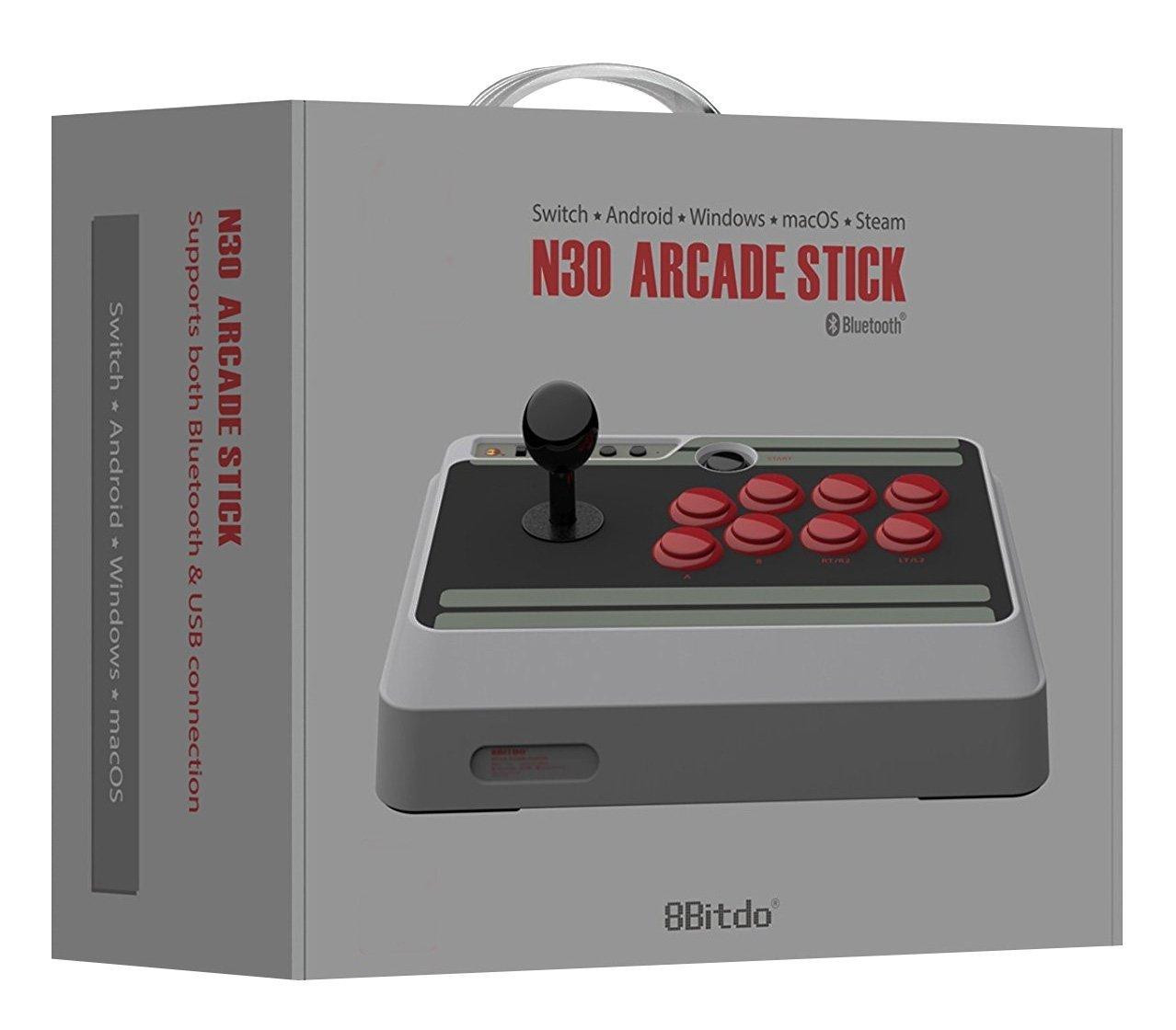 Stick Arcade 8bitdo N30 pour Nintendo Switch, iOS, Android, Windows