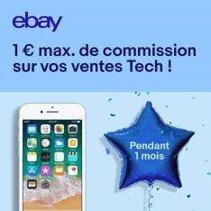 1€ de commission maximum pour toutes vos ventes dans la catégorie High-Tech (sous conditions)