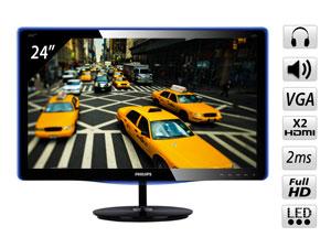 Ecran PC Philips 247E3LHSU 24'' LED FullHD VGA / 2xHDMI