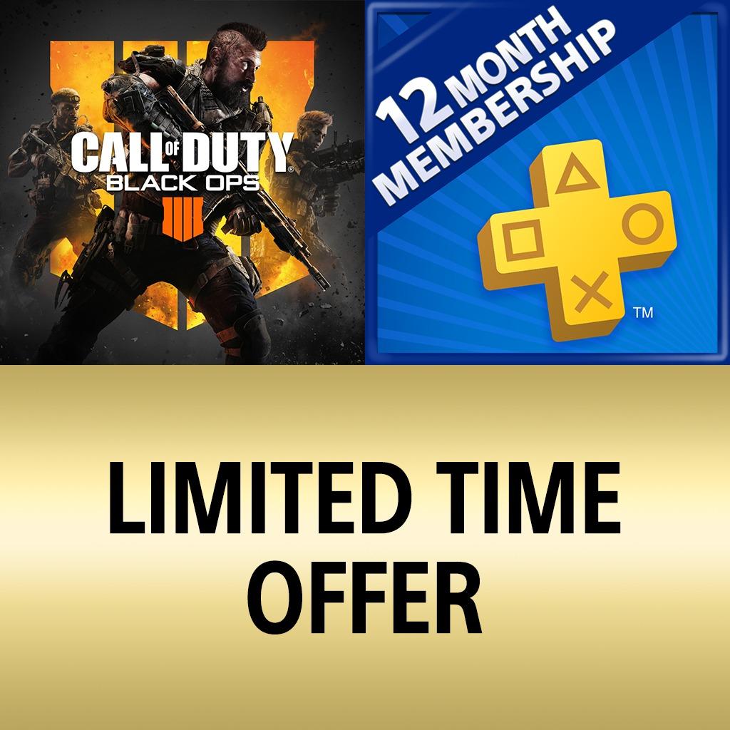 Call of Duty: Black Ops 4 + Abonnement PlayStation Plus 12 Mois (Dématérialisé - Store Indonésien)