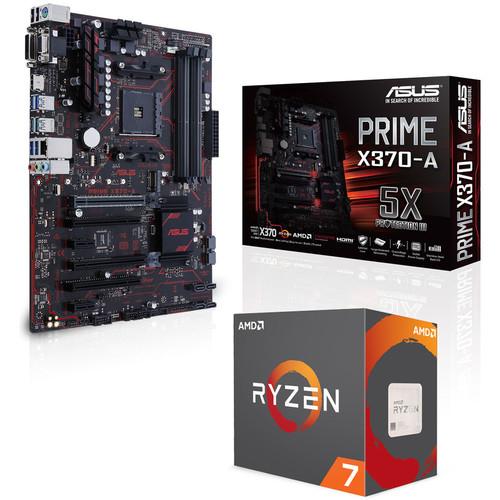 Processeur AMD Ryzen 7 1700X (3.4 GHz) + carte-mère Asus Prime X370-A