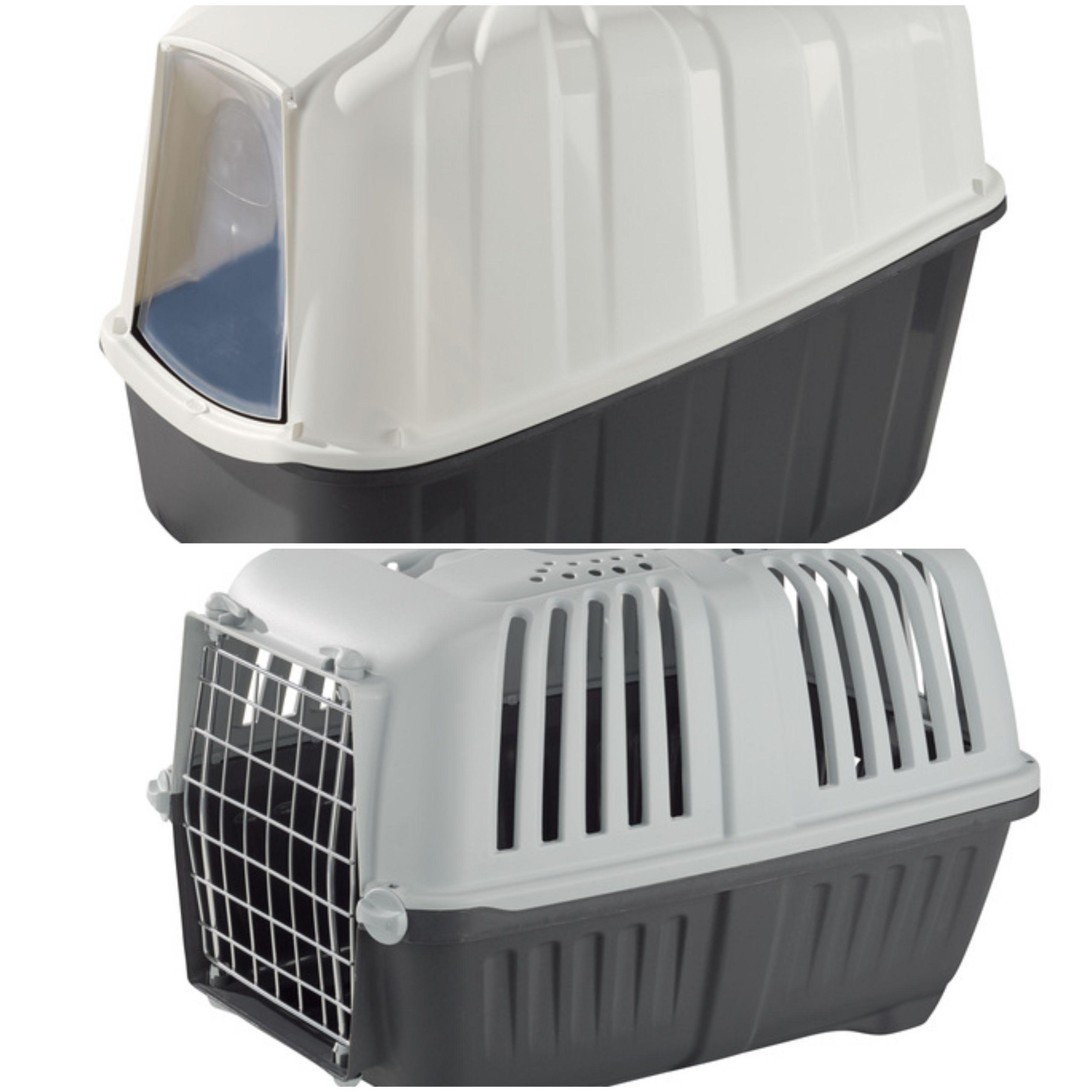 Caisse de transport ou bac à litière pour chat