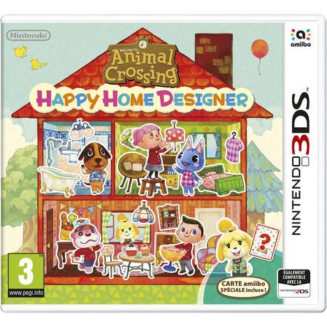 Precommande : Jeu Nintendo 3DS Animal Crossing : Happy Home Designer + 1 carte amiibo incluse