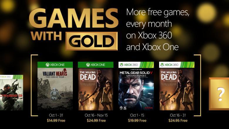 [Games with Gold] Soldats inconnus : Mémoires de la Grande Guerre et The Walking Dead Saison 1 gratuits sur Xbox One