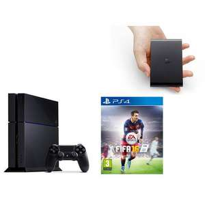 Console Sony PS4 1 To + Fifa 16 + Playstation TV