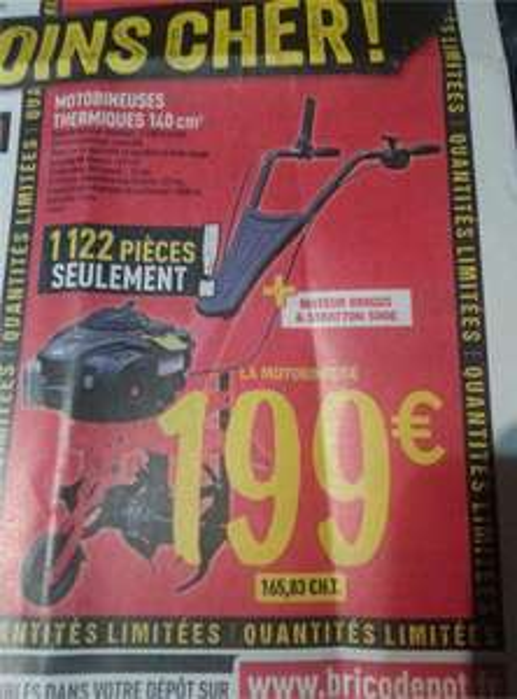 Motobineuse thermique 140cm3