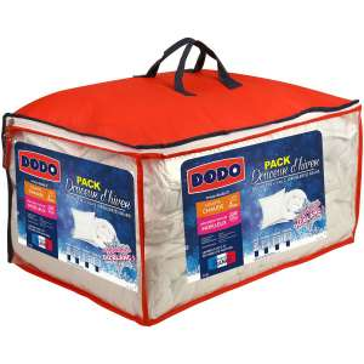 Pack couette chaude Dodo + 2 oreillers moelleux - 260x240 cm