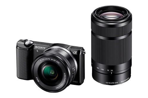 Appareil photo hybride Sony A5000 +  2 objectifs (16-50mm et 55-210mm)