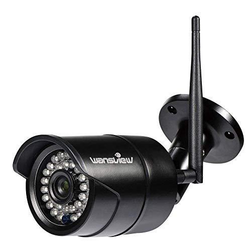 Caméra IP Extérieur Wansview - 1080P sans Fil, Etanche IP66 / Vision Nocturne W2, Noir (vendeur tiers)