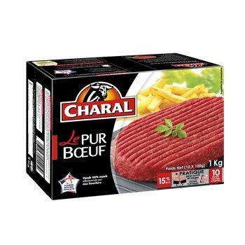 10 Steaks hachés Charal Pur Boeuf - 1kg 15% M.G (via Quoty et Coupon Network) - Rocheville (50)