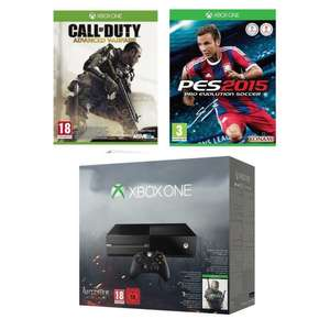 Console Xbox One 500 Go Noire + The Witcher 3 + Call of Duty Advanced Warfare + PES 2015