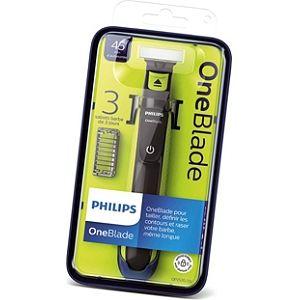 rasoir lectrique 3 sabots philips one blade via sur la carte de fid lit. Black Bedroom Furniture Sets. Home Design Ideas