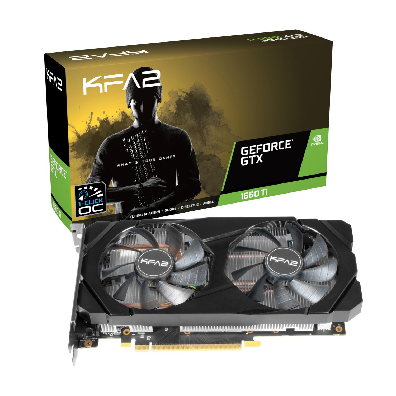 Carte graphique KFA2 GeForce GTX 1660 Ti 1-Click OC - 6 Go