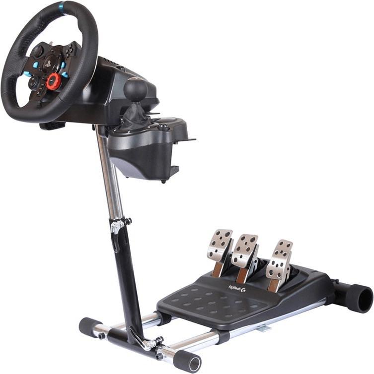 Support pliable, réglable et transportable pour volant de jeux vidéo Wheel Stand Pro Deluxe V2 Logitech (87.5€ via GrosBill Privilèges)
