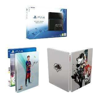Console Sony PlayStation 4 1To + FIFA 16 Steelbook + Metal Gear Solid V : The phantom pain Steelbook