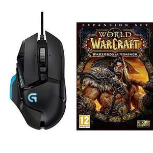 Souris gaming Logitech G502 Proteus + World of Warcraft : Warlods of Draenor