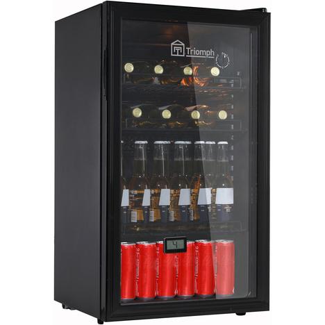 Cave à Bière / Vin frais Triomph THS85VN - 80 L, 42 dB, 3 à 10°C, 3 Clayettes, Porte vitrée