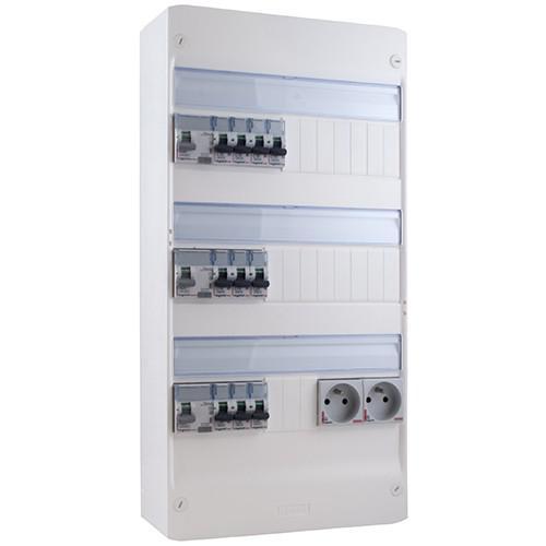 Tableau électrique Legrand pré-équipé/câblé 3 rangées