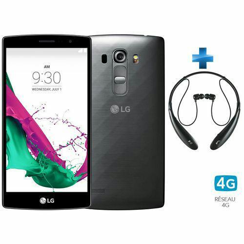 "Smartphone 5,2"" LG G4S titane + Casque bluetooth LG Tone ultra hbs 800"