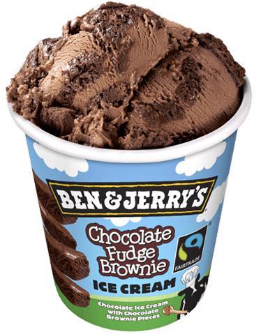2 Pots de crème glacée Ben & Jerry's 425g