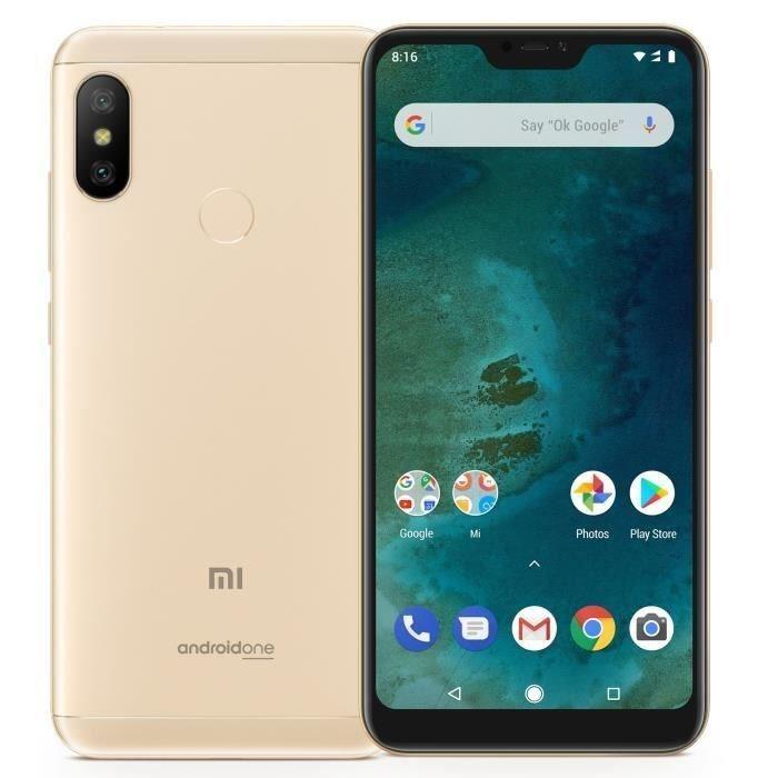"Smartphone 5.84"" Xiaomi Mi A2 Lite - 3 Go RAM, 32 Go ROM, Or (vendeur tiers - Frais d'expédition inclus)"