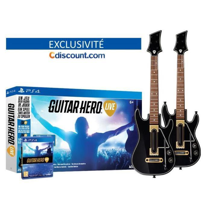 Précommande  : Pack Jeu Guitar Hero Live sur PS4 / Xbox ONE + 2 Guitares