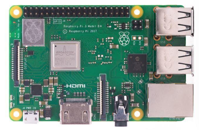 Carte de dévelopement Raspberry Pi 3 Modèle B+ (Frais de douane et d'expédition inclus - arrow.com)