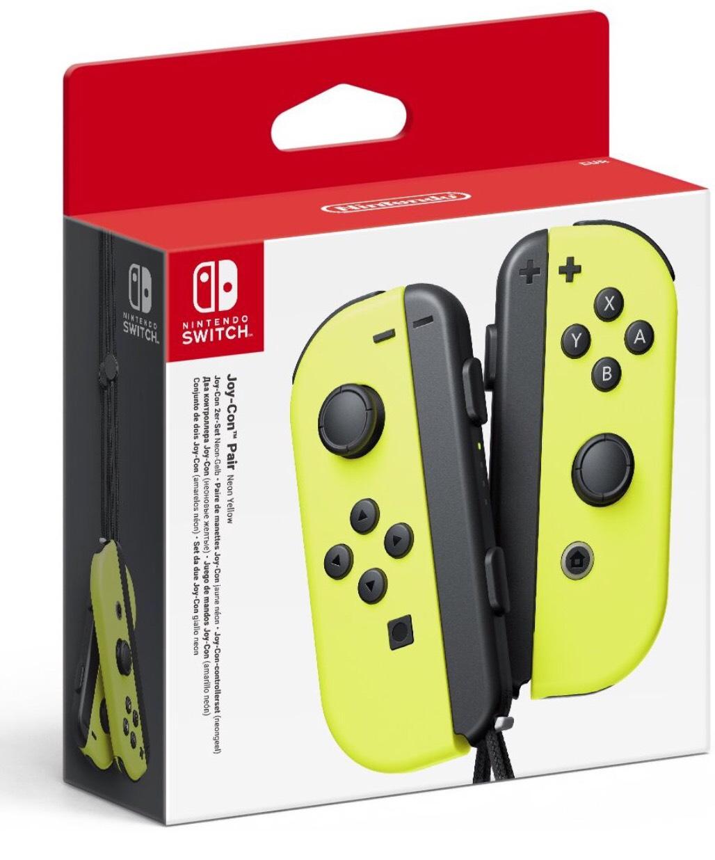 Paire de manettes Joy-Con Jaune pour Nintendo Switch