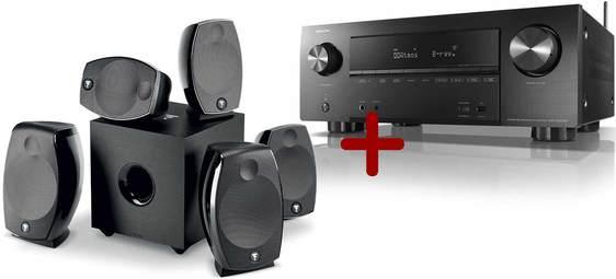 Pack Home cinéma Focal Sib Evo (Atmos 5.1.2) + Amplificateur Denon AVR-X2500H (Noir)