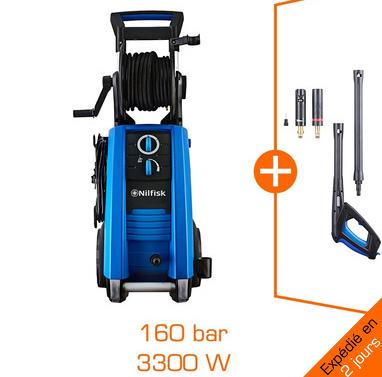 Nettoyeur haute pression Nilfisk 3300W - 160 bar - 650l/h + accessoires