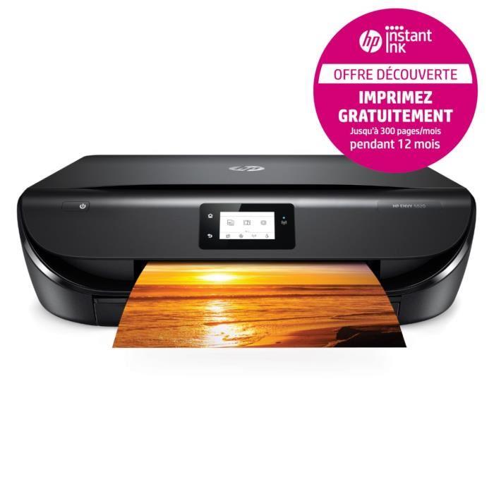 Imprimante HP Envy 5020 - WiFi + Forfait Instant Ink de 300 pages/mois offert pendant 12 mois + 10€ de crédit offerts (via ODR de 20€)