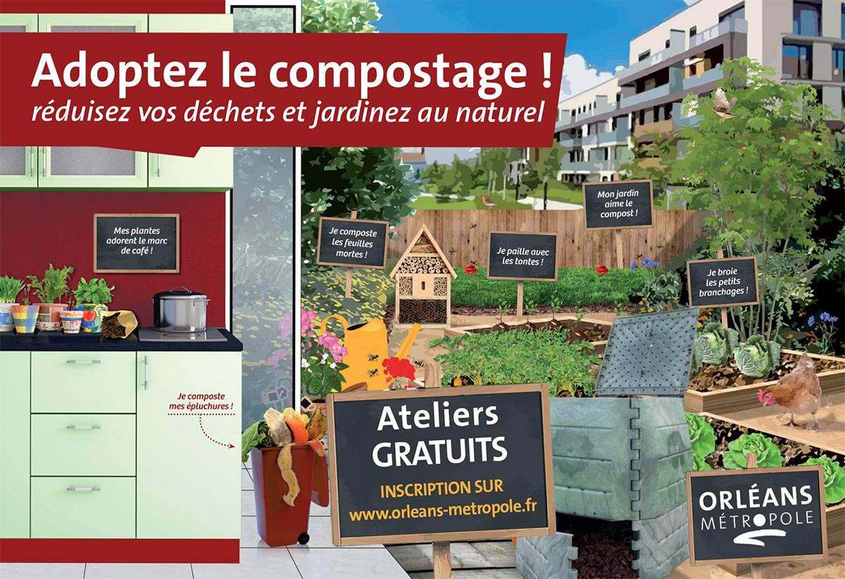 Atelier compostage et composteur gratuit - Orléans (45)