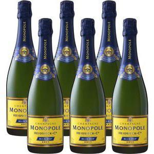 6 Bouteilles de Champagne brut Heidsieck - 6x75cl