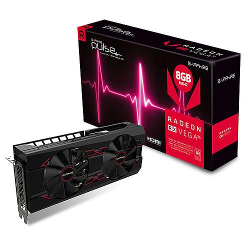 Carte graphique Sapphire Radeon RX Vega 56 Pulse 8G + 3 jeux offerts (311,09€ avec le code KALI)