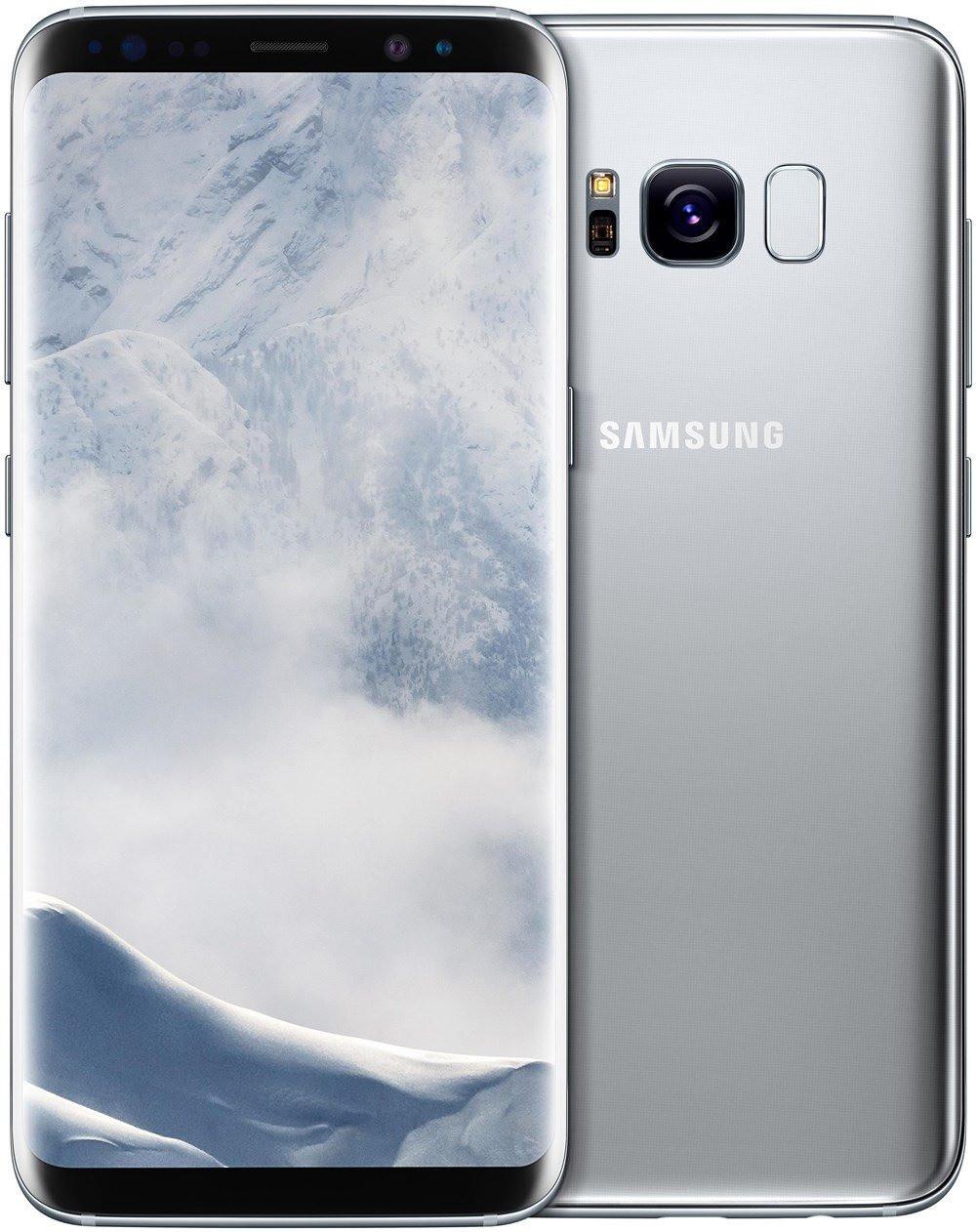 "Smartphone 5.8"" Samsung Galaxy S8 - QHD+, Exynos 8895, 4 Go de RAM, 64 Go, argent"