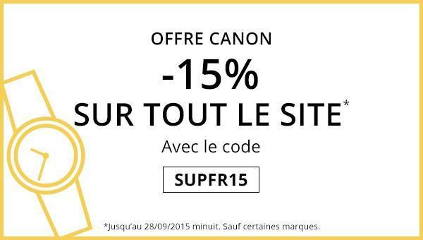 15 % de remise sur votre commande (hors Dior, Chanel, etc)