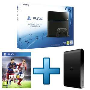 Console Sony PS4 1 To + Playstation TV + FIFA 16