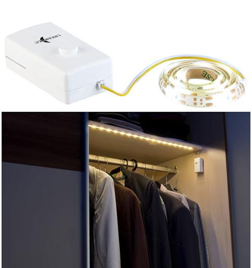 Bande LED à piles 160 lm / 60 cm blanc lumière du jour - Lunartec 0.00€