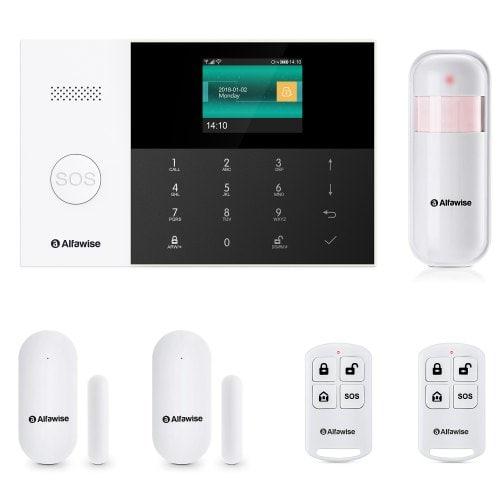 Kit Alarme Alfawise PG-105, GSM et WiFi, 3 capteurs et 2 télécommandes