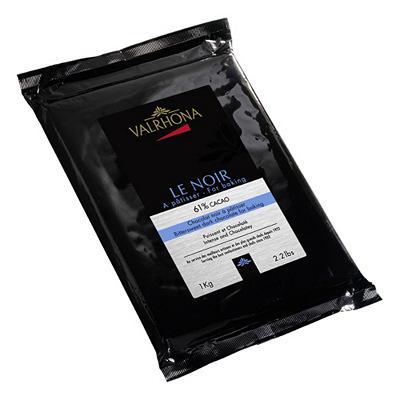 Bloc 1Kg de chocolat noir 61% Valrhona