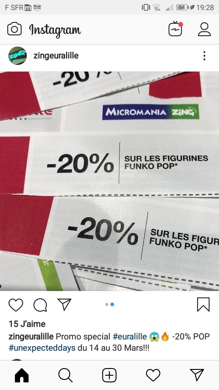 20% de réduction sur toutes les figurine Pop - Zing  Lille (59)