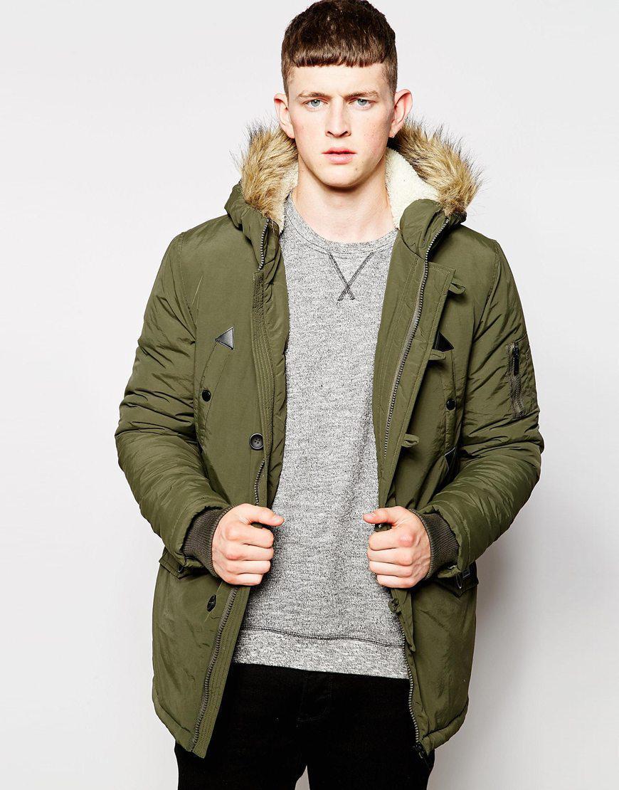 Jusqu'à -60% sur une sélection de manteaux et vestes - Ex : Parka avec capuche Brave Soul