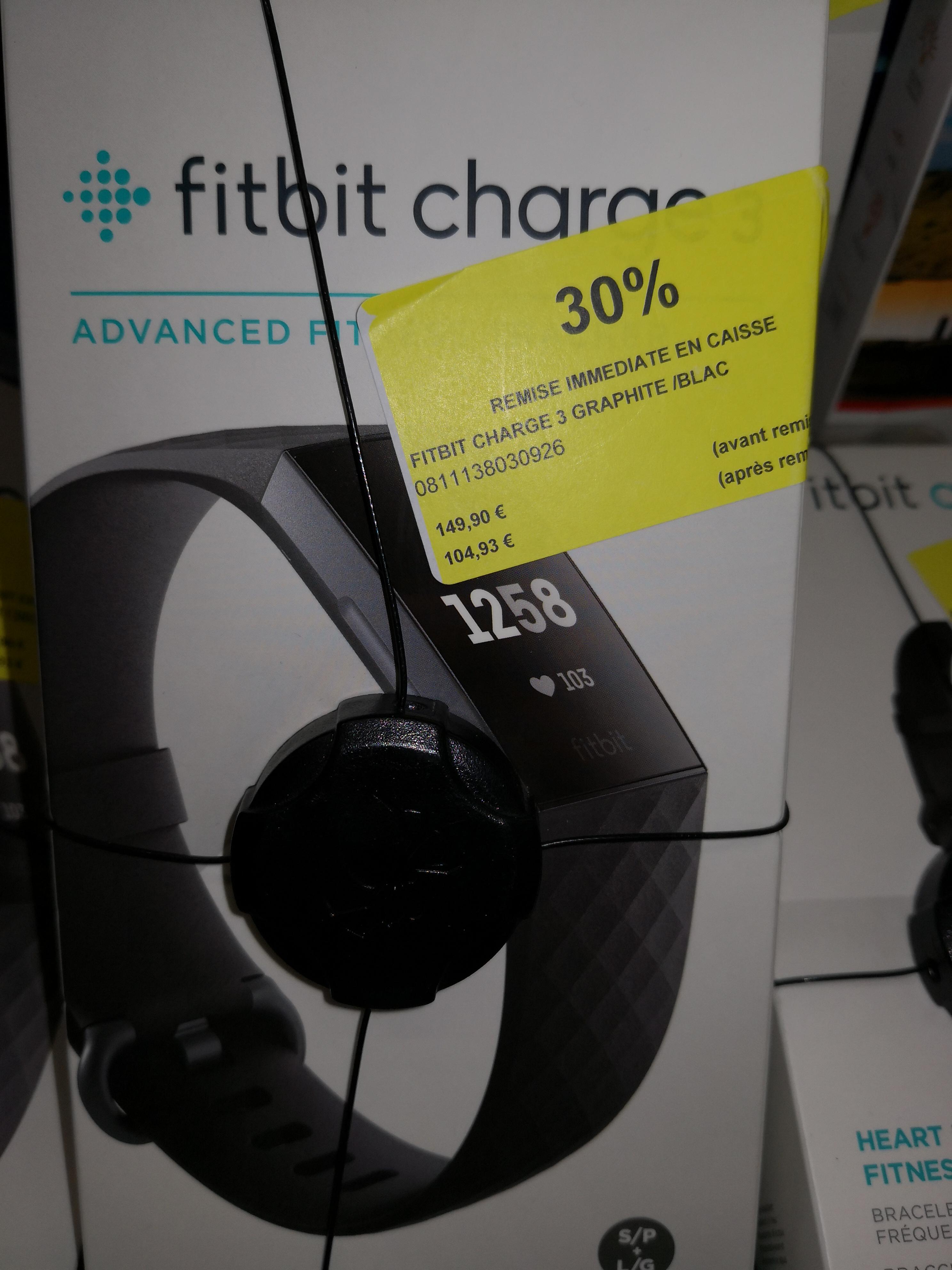 Bracelet Connecté Fitbit Charge 3 Graphite - Angoulins (17)