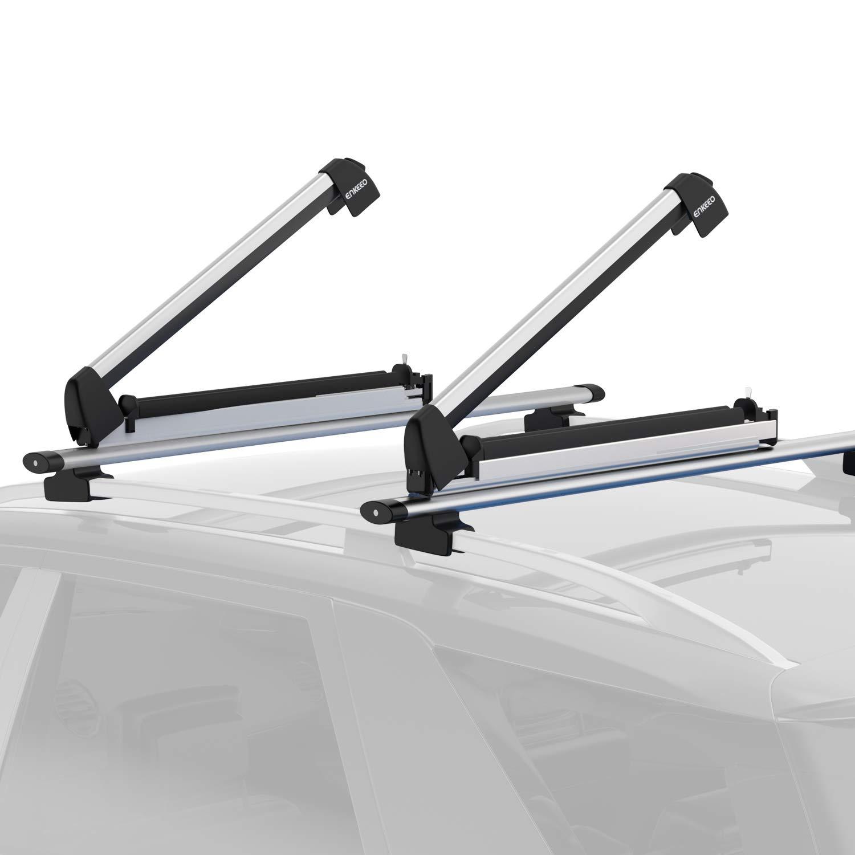 Porte-Skis Enkeeo - 1 Paire en Aluminium - 84 x 16 x 15 cm (Vendeur tiers)