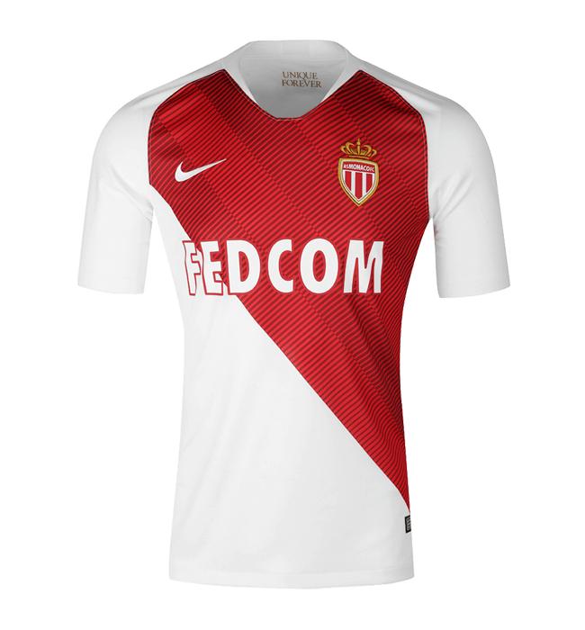 Maillot de Footbal Nike AS Monaco (18/19) + Flocage et Signature du joueur offerts