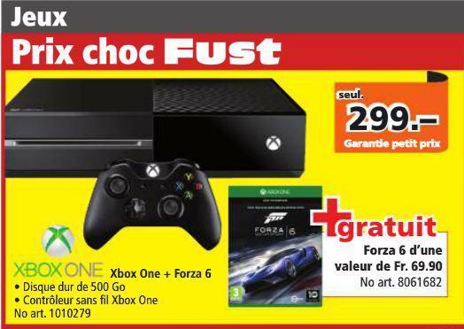 Console Microsoft Xbox One 500 Go + Jeu Forza 6