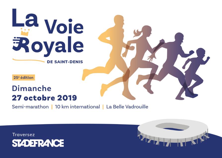 """Droit d'inscription pour toutes les courses a pied  (Semi marathon/10k/5k/course enfants gratuite ) de ''La voie Royale""""  à 5.70€"""