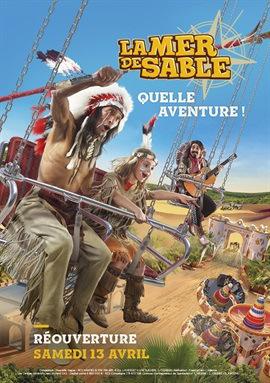 Billet non daté pour le parc d'attractions La mer de Sable - Ermenonville (60)