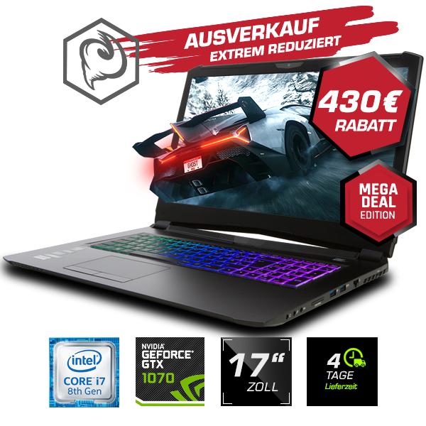 PC Portable 17.3 Clevo PA71ES-G  - i7-8750H, 16 Go de Ram, 500 Go SSd, GeForce GTX 1070 8 Go