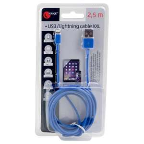 Câble USB Lightning pour iphone 5/5C/5S/6/6S - 2.5 mètres